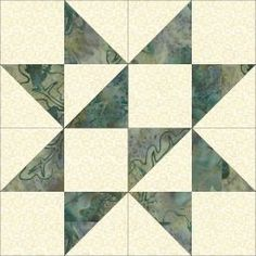 Free Trade quilt block - The Free Trade Pattern was published in the Kansas City Star in 1933. This blog post includes the Accuquilt dies needed to make the block.