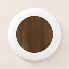 #wood - #Dark Walnut Brown Bamboo Wood Grain Look Wham-O Frisbee