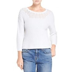 A white sweater spring. J Brand Marsha Sweater - Just In