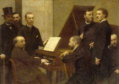 En torno al piano. 1884 - Henri Fantin-Latour