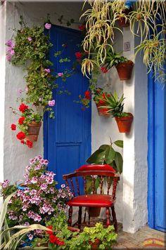 Patios of Gordoba, Spain pieces) Outdoor Rooms, Outdoor Living, Outdoor Decor, Garden Art, Garden Design, Mexican Garden, Hacienda Style, Balcony Garden, Beautiful Gardens