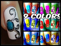 Nail Art Designs step by step at Home without Tools - Simple design for ...