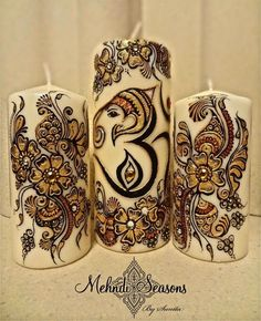 Ganesh Om Candles Gift Set.  For more info or orders contact Sunita on:  T: 07843204974 E: info@mehndi-seasons.co.uk