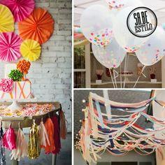 Se sua festa de carnaval for em casa, não deixe de decorar com detalhes coloridos! Eles farão toda a diferença!