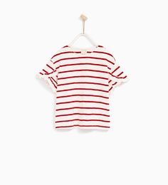 PRINTED T-SHIRT WITH FRILLED SLEEVES-T-SHIRTS-GIRL   4-14 years-KIDS   ZARA United States