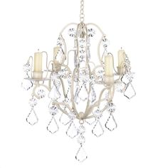 Amazon.com: Gifts & Decor Ivory Baroque Candle Chandelier, Iron and Acrylic: Home & Kitchen