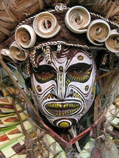 Tribal Warrior, Africa Continent.. The face paint is so intricate and detailed