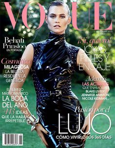 Magazine Cover: Behati Prinsloo Covers Vogue Mexico November 2013 in Versace