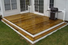 How To & Repair:Stairs Featured Deck How to Building a Deck on the Ground Backyard Plan, Small Backyard Design, Backyard Retreat, Deck Design, Backyard Ideas, Pergola Ideas, Garden Ideas, Cool Deck, Diy Deck