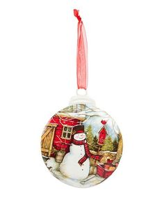 Refresh your Christmas tree with this charming ornament featuring a whimsical snowman scene. Snowman Christmas Ornaments, Christmas Bulbs, Christmas Decorations, Holiday Decor, Christmas Trends, Christmas Home, Gifts For Family, Baby Gifts, 3 D