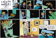 Calvin and Hobbes, Homicidal psycho jungle cat! | Hee hee hee! You should've seen the look on your face!