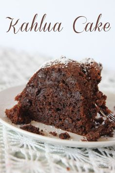 Chocolate Kahlua Cake - the easiest, richest, moistest chocolate cake you'll ever have