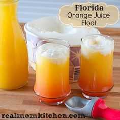 Florida Orange Juice Float | realmomkitchen.com