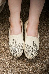 "Or these customized TOMS. | 25 Completely Magical ""Harry Potter"" Wedding Ideas"