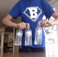 water bottle flip flipforacure flip for a cure omg four bottles