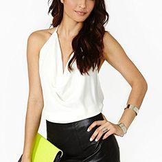 May&Maya Women's White Drop Front Crop Halter Top Tee Tank Shirt Blouse (S) May&Maya http://www.amazon.com/dp/B00MF5I7UI/ref=cm_sw_r_pi_dp_oI6Pvb1N6AJ60