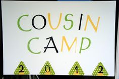 Annual cousin camp. How cool! There's a lot of us:)