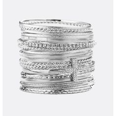 Avenue Cross Stone Bangle Set ($16) ❤ liked on Polyvore featuring jewelry, bracelets, plus size, silver, bangle set, cross jewelry, stone bangles, imitation jewellery and bangle bracelet
