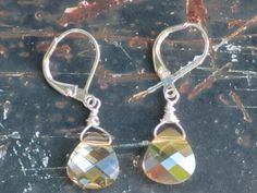 JAM Swarovski earrings. Golden shadow, leverback earwire. These go with everything!