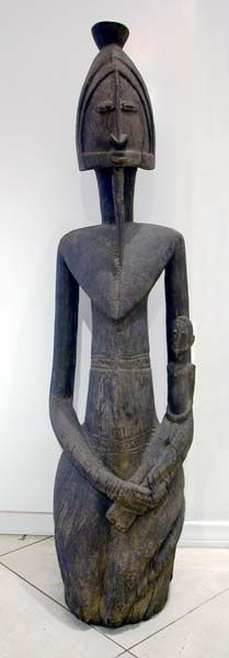 Africa | Ancestor Sculpture from the Dogon people of Mali | 19th - 20th century | Wood