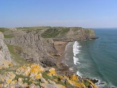 Mewslade bay is one of the prettiest bays on the Gower Peninsula, South Wales. The short walk to the beach, leads down a wooded path and then through the valley which is owned by the National Trust. Gower Peninsula, South Wales, Paths, Places To Go, Beach, Outdoor, Google, Image, Outdoors