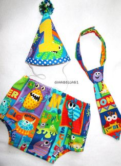 Hey, I found this really awesome Etsy listing at https://www.etsy.com/listing/187642585/monster-birthday-boy-cake-smash-outfit