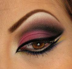 Arabic Eye Makeup- very pretty good for brown eyes!