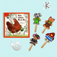 Kids will love retelling the classic folktale The Little Red Hen with these super easy to set up with our FREE printable puppets. Free Preschool, Preschool Activities, Counseling Activities, Preschool Learning, Little Red Hen Activities, Little Red Hen Story, Templates Printable Free, Certificate Templates, Printables