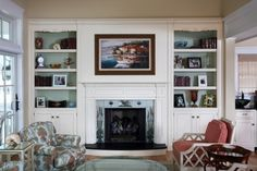 fireplace mantle and shelf