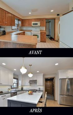 Kitchen Remodels before and after. 20 Kitchen Remodels before and after. before & after Kitchen Remodel Diy Kitchen Remodel, Kitchen Redo, New Kitchen, Kitchen Remodeling, Kitchen Makeovers, Kitchen Ideas, Remodeling Ideas, Kitchen Colors, Kitchen Soffit