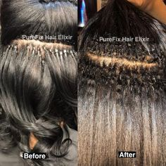 """Wonderful Free of Charge PureFix Hair Elixir Popular """"Warm"""" methods for hair expansion The glue material is usually used artificial Keratin. Etae Hair, Coily Hair, Kinky Curly Hair, Fusion Hair Extensions, Black Hair Extensions, Hair Extensions Tutorial, Tape In Extensions, Human Hair Extensions, Rebonded Hair"""