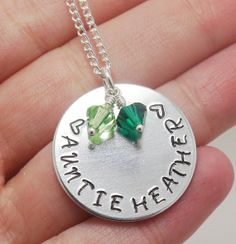 Auntie Necklace, Aunt Jewelry, Birthstone Jewelry, Personalized Necklace for Aunt, Aunts Birthday, Grandma Necklace, Mom Necklace ALUMINUM