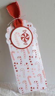 Designed by maryross: 15 Dias para Navidad, 15 Days before Christmas, christmas tag made with jolly bingo bits and two tags die from stampin up