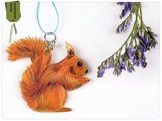 Eichhörnchen Kette Halskette mit Illustration von fraufischers