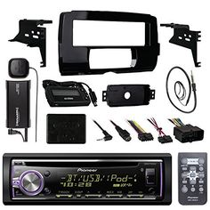 Audio Bundle For 2014 and Up Harley  Pioneer DEHX6800BT CD MP3 AUX Marine Bluetooth Receiver Combo W Install Dash Kit Handle Bar Controller for Motorcycle SiriusXM Tuner Enrock 22 Radio Antenna ** Want to know more, click on the image-affiliate link. #VintageBluetooth Radio
