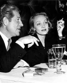 Marlene Dietrich and Jean Gabin. The perfect couple. Marlene Dietrich, Rita Hayworth, Perfect Couple, Best Couple, Old Hollywood Glamour, Vintage Hollywood, Divas, Jean Gabin, Tunnel Of Love
