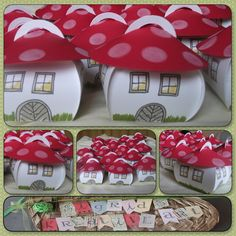Sigrid's creative way:mushroom house crafted from the Curvy Keepsake Box (  there is also a video tutoria