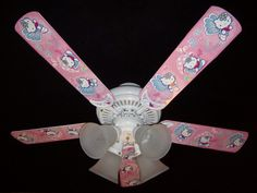 "Hello Kitty 44"" Tri Mount Ceiling Fan 