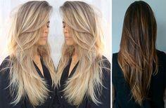 Tendências e modelos de cortes de cabelo modernos 2016: Modelos e fotos de cortes de curtos, longos, repicados, em camadas para cada tipo de rosto.