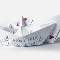 Svatební oznámení: Origami Loď II.