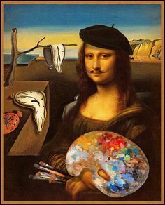 Dali a Lisa Mona Friends, La Madone, Mona Lisa Parody, Mona Lisa Smile, Classical Art, Italian Artist, Oeuvre D'art, Van Gogh, Les Oeuvres