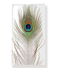 Look what I found on #zulily! Peacock Plume Guest Towel - Set of 32 #zulilyfinds