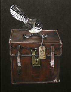 Piwakawaka's Case - NZ Fantail by Jane Crisp - imagevault.co.nz