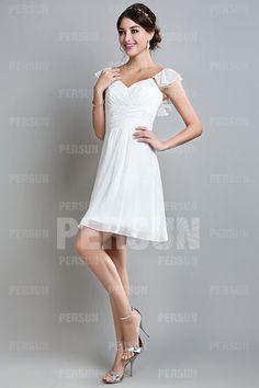 robe mini blanche pour mariage été