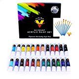 Review for Acrylic Paint Set 24 Colors 12ml Tubes & Free Acrylic Brushes - Acrylic Paint Se... - Christina Alexander - Blog Booster