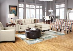 Shop for a Cindy Crawford Home Madison Place Vanilla 3 Pc Sectional Living Room at Rooms : sybella sectional - Sectionals, Sofas & Couches