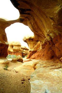 Metate Arch In the San Rafael, Utah .