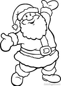 Santa Coloring Pages, Christmas Coloring Sheets, Printable Christmas Coloring Pages, Online Coloring Pages, Christmas Printables, Coloring Pages For Kids, Coloring Books, Santa Coloring Pictures, Santa Pictures