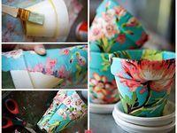 Decoupage idea for pots