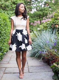 Contrast Study Dress